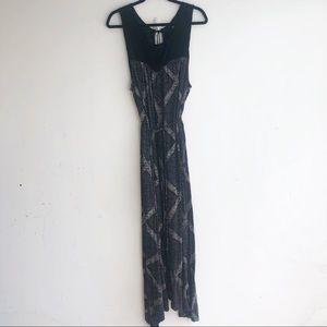 LUCKY BRAND PATTERNED MAXI DRESS XL
